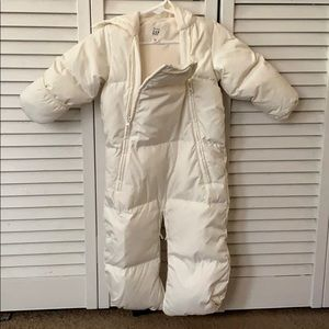 BabyGap cream puffer snowsuit